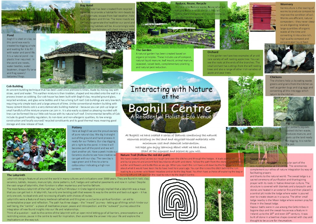 Interacting with Nature Tour leaflet