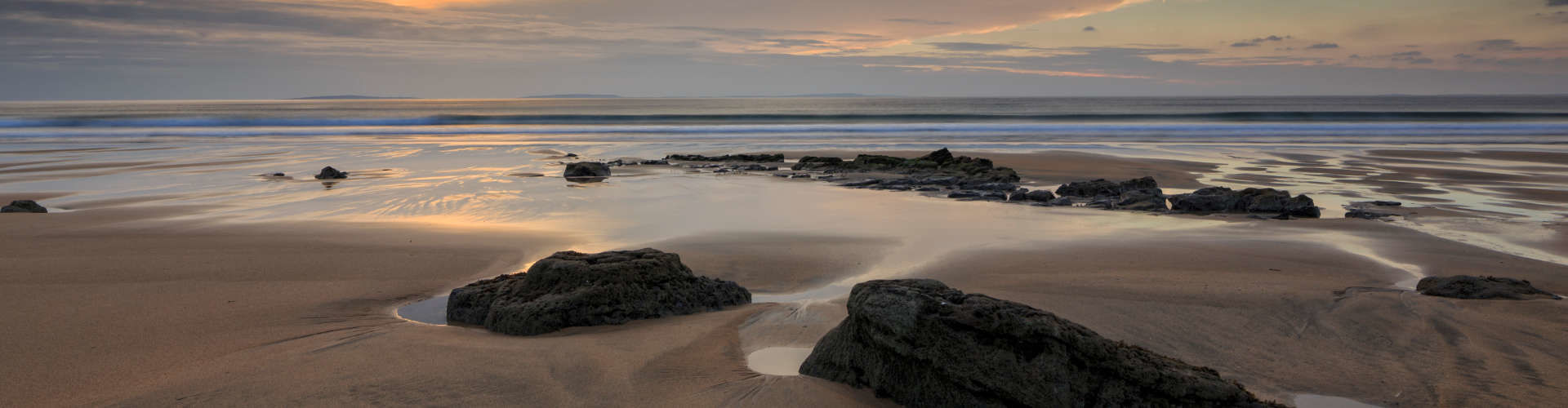Fanore beach at sunset