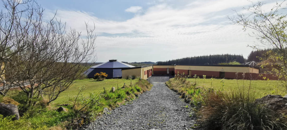 Path down to Boghill Centre hall and rooms
