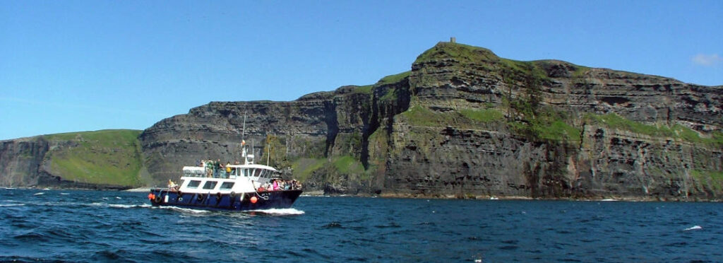 Cliffs of Moher from a Boat Tour